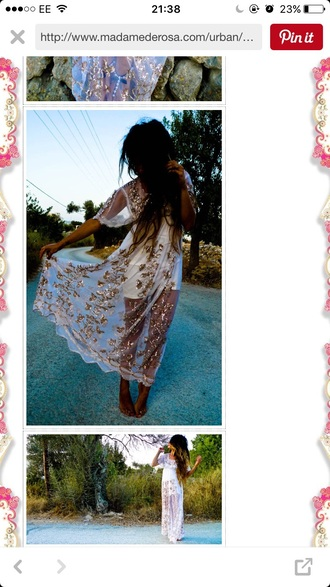 dress white prom boho bohemian maxi hippie embellished dress hippie chic united kingdom