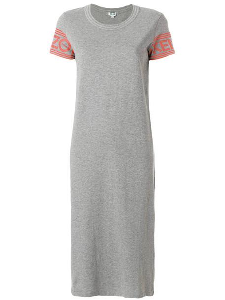 Kenzo dress midi dress women midi cotton grey