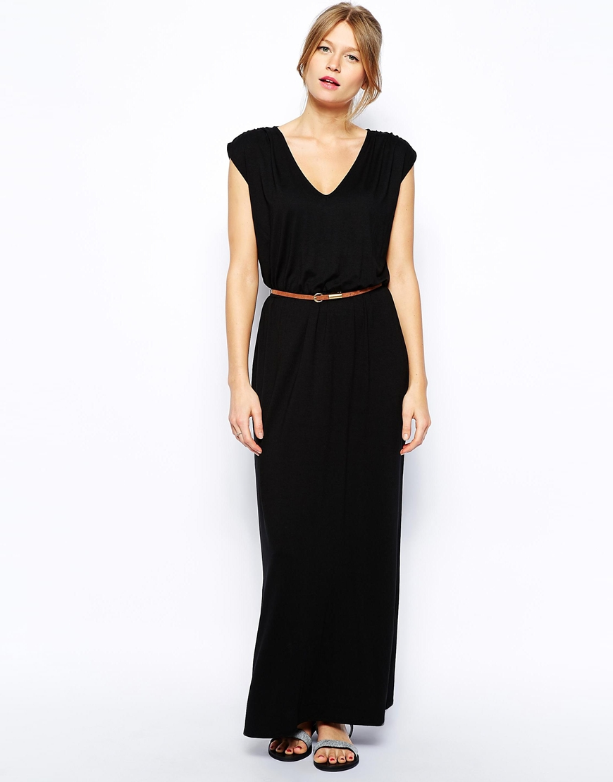Oasis v neck maxi dress at asos.com