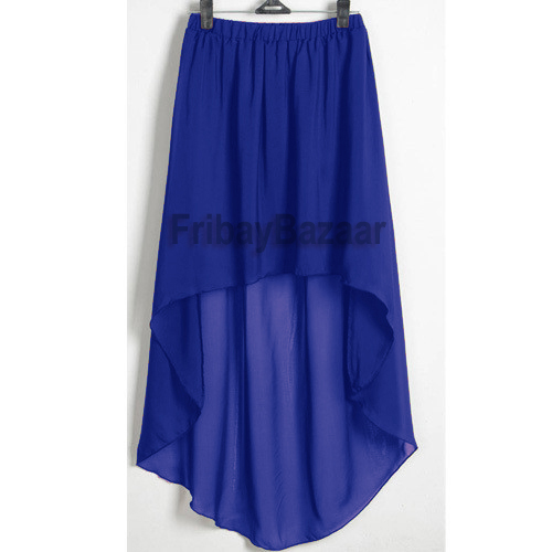 Women Lady Chiffon Hot Sexy Asym Skirts Waist Maxi High Low Hem s 3XL 25 Colors | eBay