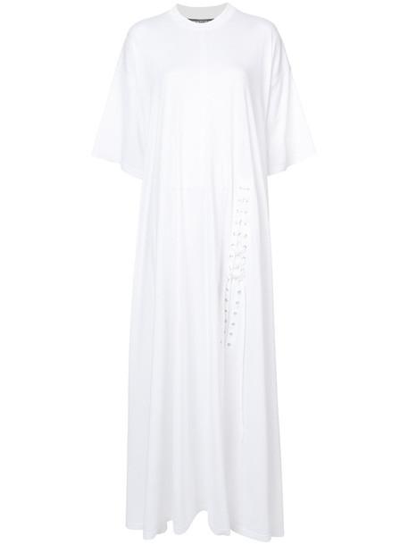 Y / Project dress women lace white cotton