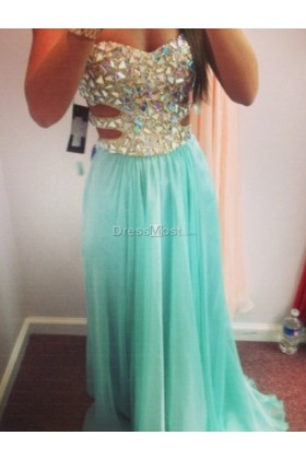 Length blue formal dress