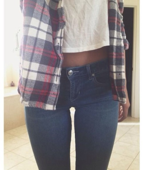jeans shirt denim plaid navy flannel shirt plaid shirt navy blue casual white t-shirt lucy hale t-shirt aurora mohn pretty little liars tumblr tumblr girl pinterest everyday ariana grande taylor swift