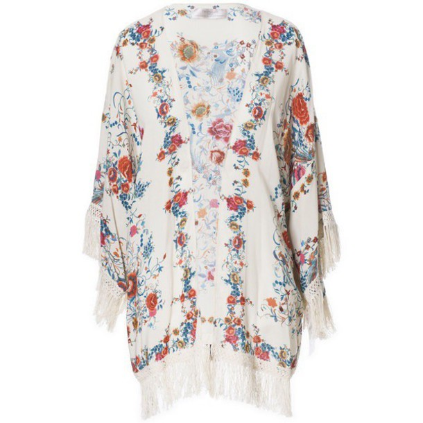 cardigan zara kimono flowers floral summer outfits
