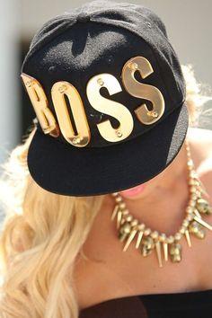 Boss snapback cap