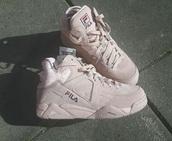 shoes,fila,rose,sneakers,high top.,fila sneakers
