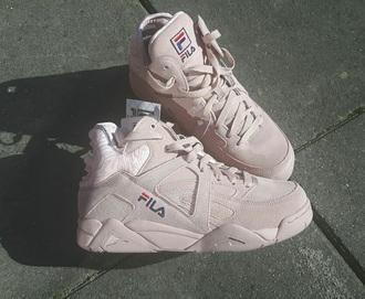 shoes fila rose sneakers high top. fila sneakers