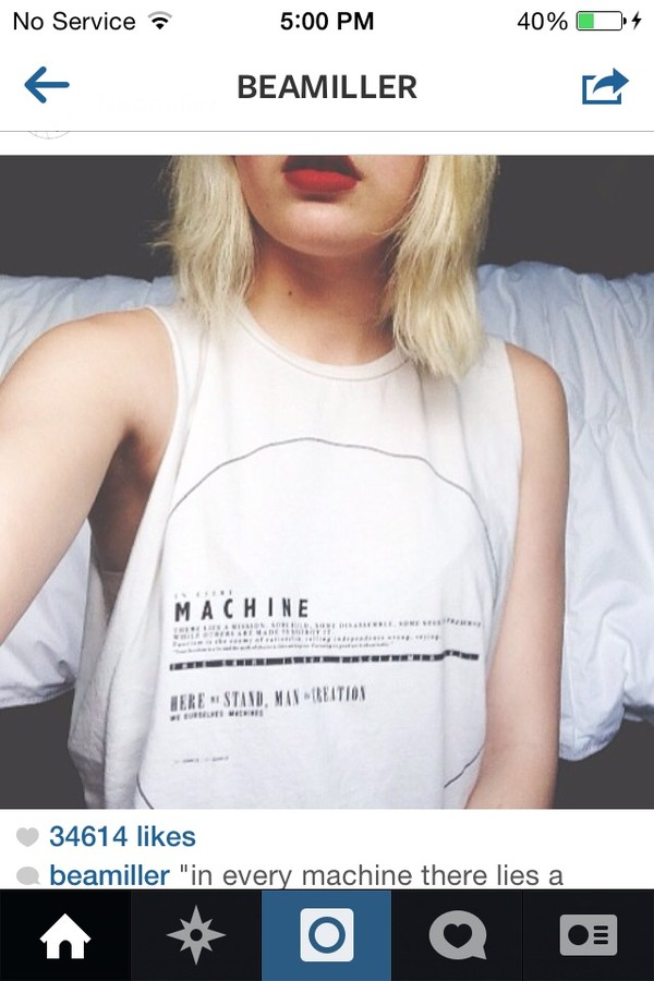 shirt muscle tee white blonde hair hair red lipstick tumblr t-shirt crop tops