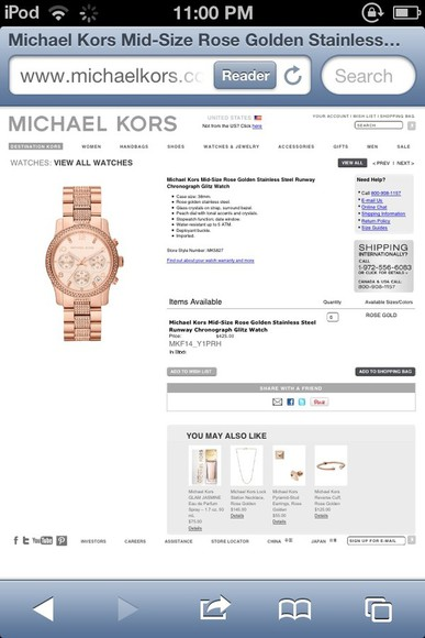 jewels rose gold watch gorgeous
