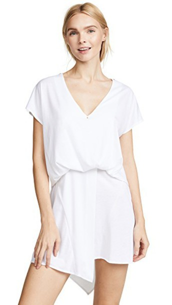 Esteban Cortazar dress v neck dress v neck white