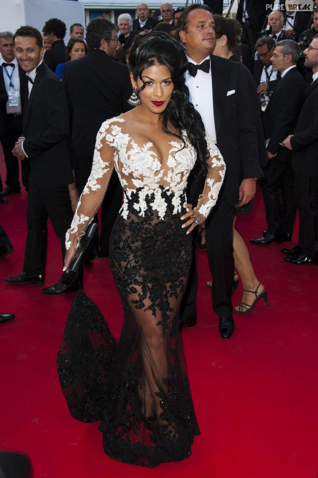 Buy sexy sheer white and black lace celebrity red carpet dress floor length - Black and white red carpet dresses ...
