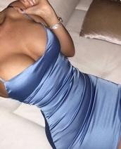 dress,satin,silk,blue,bodycon dress,bodycon,instagram,tumblr,dope