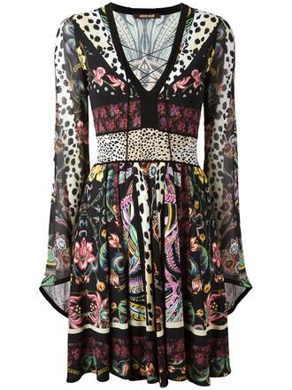 dress women floral print silk