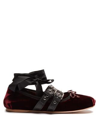 ballet flats ballet flats velvet burgundy shoes