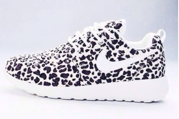 New NIKE FREE 5.0 V4 Running Shoes PURPLE & GREY LEOPARD Womens