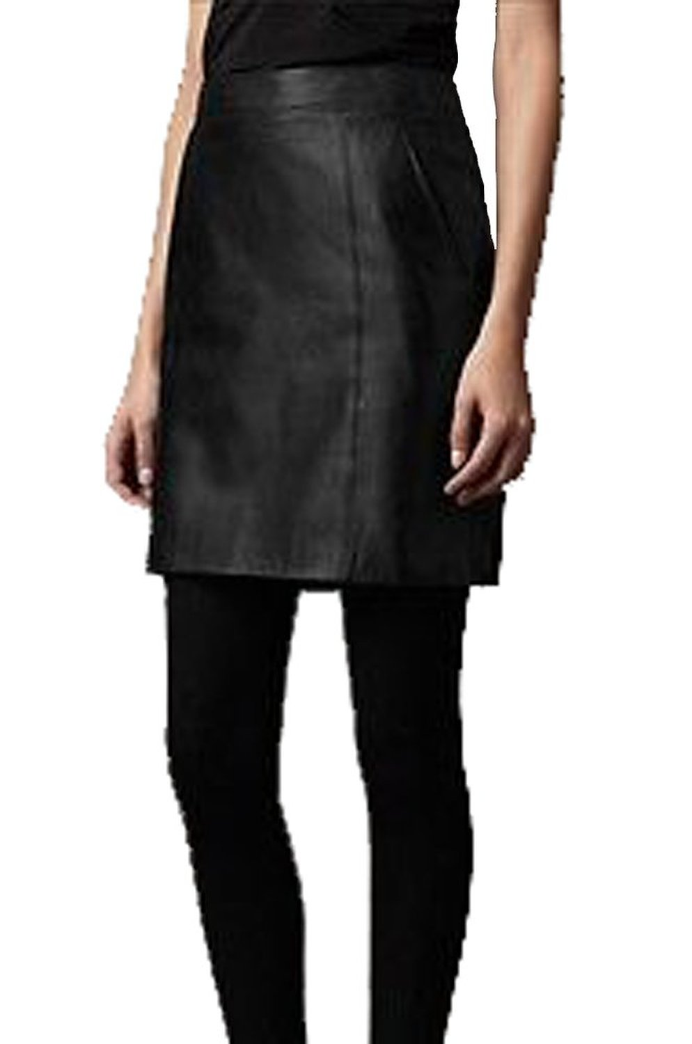 Career faux leather black pencil straight skirt dress at amazon women's clothing store: