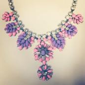 jewels,purple,statement necklace,necklace,diamonds