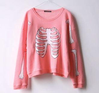skeleton top neon sweater neon skelet skelet sweater skeleton sweater skelet adorable cute sweater bones