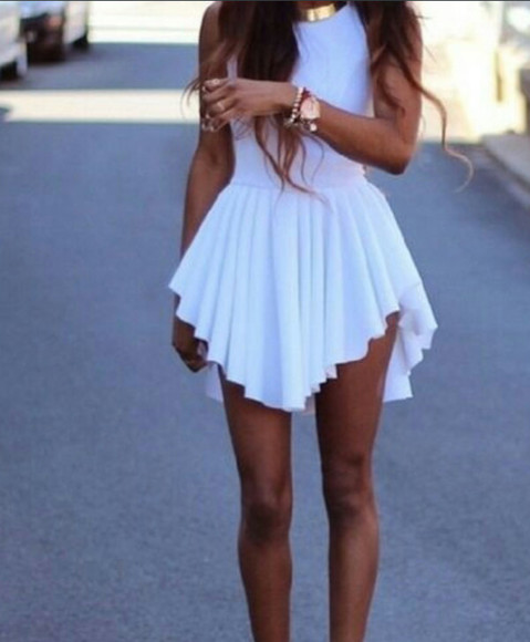 dress sundress white dress summer