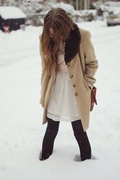 tan winter coat,coat