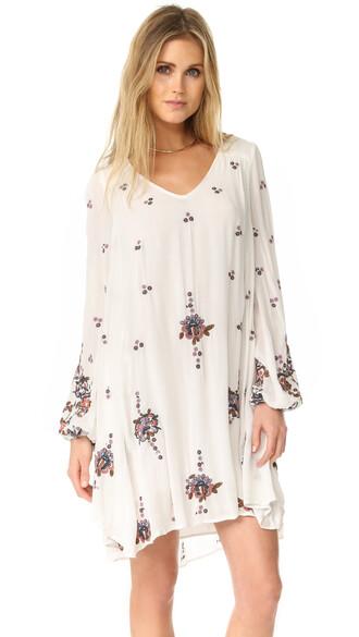 dress mini dress mini embroidered cream