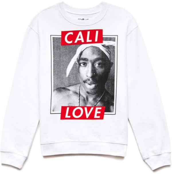 sweater clothes sweater blogger cali tupac celebrity white red shoes