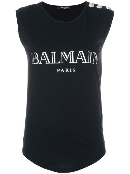 Balmain tank top top women cotton black