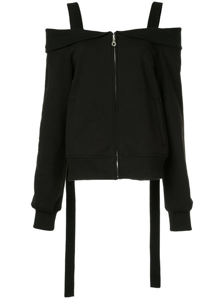 jacket women layered cotton black