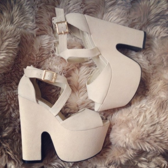 shoes high heels platform platform heels summer shoes peeptoe white heels wedge heels
