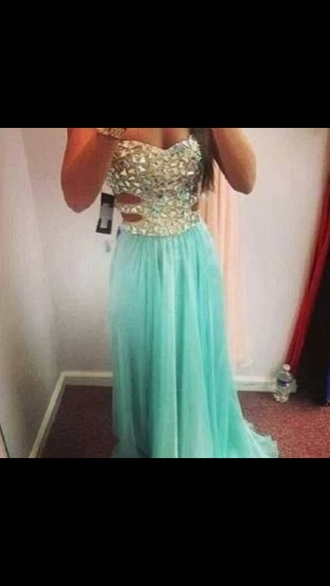 dress turquoise long prom dresses homecoming long dress sequins one shoulder dress aqua baby blue teal strapless long prom prom dress cut offs rhinestones gorgeous cut-out blue or pink
