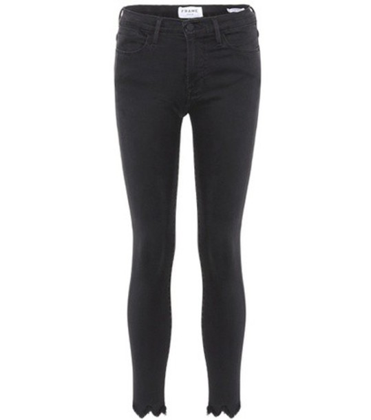 jeans skinny jeans cropped high black