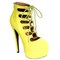 Cutesy originals – nelly-64 yellow lace-up gladiator stiletto heels