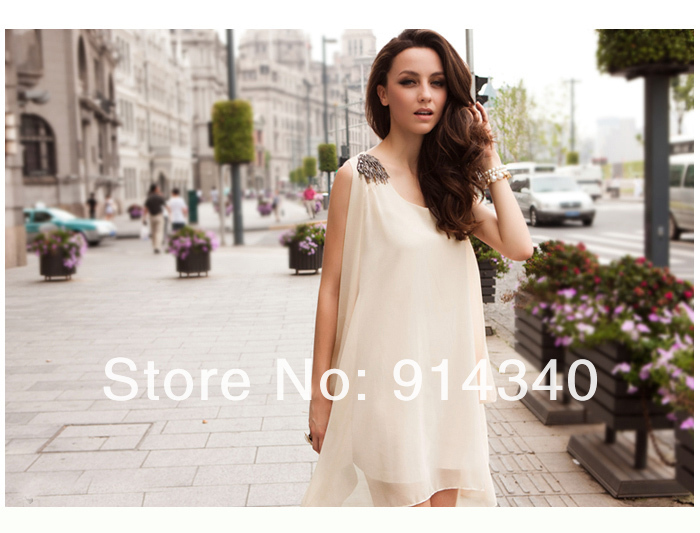 2013 high quality european noble fashion dress,elegant sweet loose dress,fashion chiffon dress