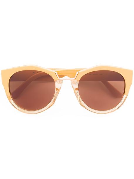 metal women sunglasses yellow orange