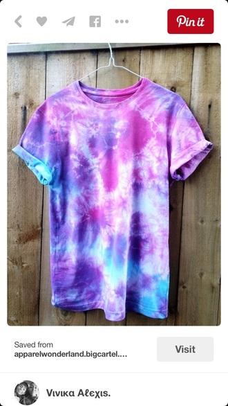 t-shirt shirt tie dye shirt multi colored summer top style fashion