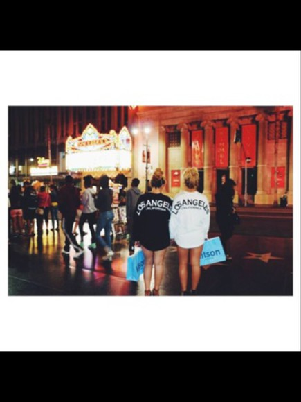 california cute los angeles shirt crewneck long sleeve