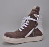 shoes,sneakers,brown,rick owens