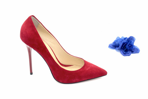 337cade9311 4 Inch Heels - Classic Red Suede High Heel Pumps