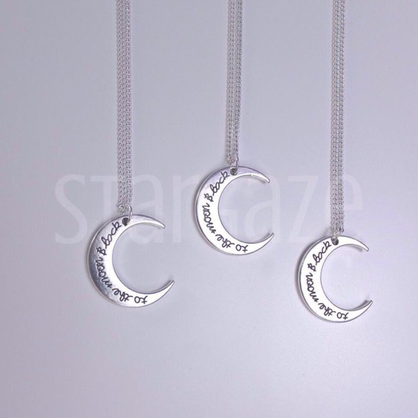 jewels necklace moon