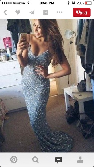 dress blue dress sparkly blue gown blue gown long prom dress prom dress