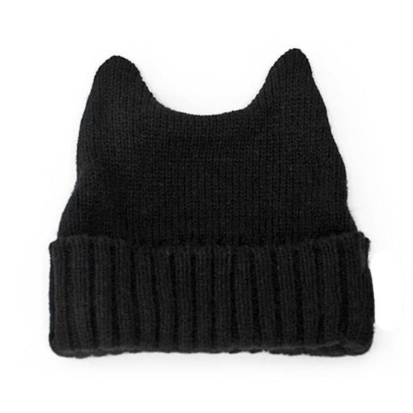 Amazon.com: LOCOMO Women Girl Cute Cat Ear Slouchy Knit Bean... - Polyvore