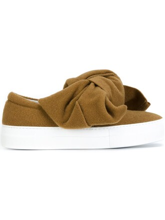 bow oversized slippers nude shoes