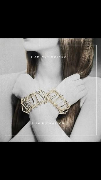 jewels bracelets gold jewelry geometric