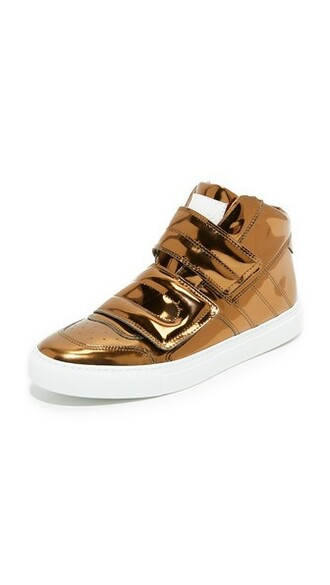 high sneakers high top sneakers bronze shoes