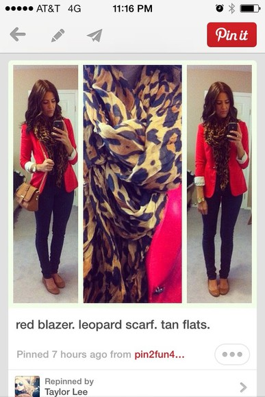 jacket red jacket scarf