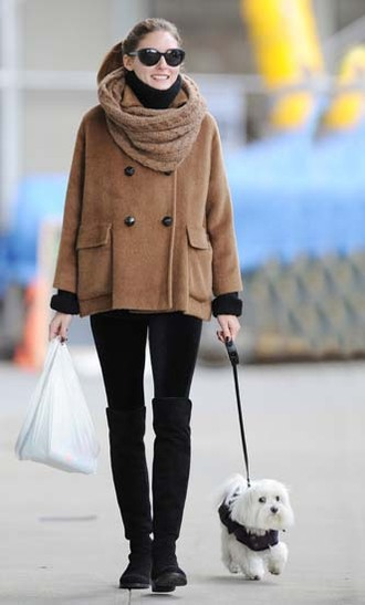 olivia palermo knee high boots boots streetstyle style winter outfits coat winter coat