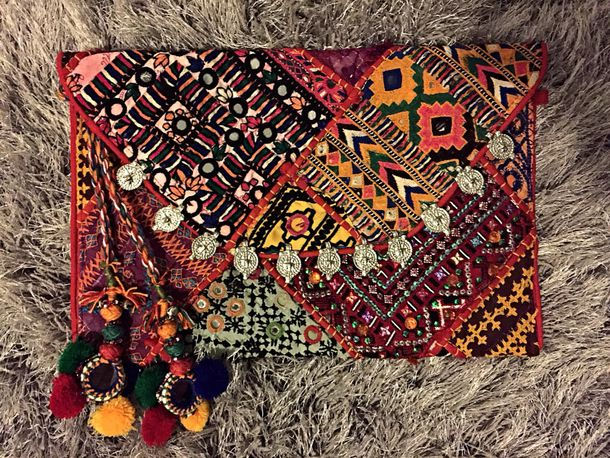bag boho boho chic clutch colorful