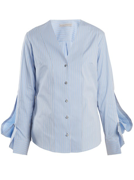 PALMER/HARDING shirt cotton blue top