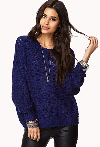 Cozy Open-Knit Sweater | FOREVER21 - 2000091959