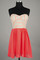 Coral dress w/ tribal embroidered contrast top – betsy boo's boutique